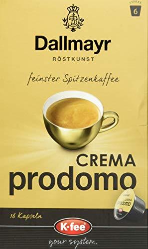 Dallmayr CREMA prodomo Kaffeekapseln, kompatibel mit Tchibo Cafissimo(R)*, 6er pack (6 x 16 Stück)