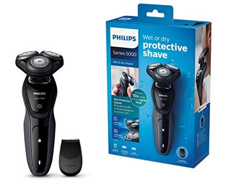 Philips Series 5000 Elektrischer Nass-und Trockenrasierer S5270/06, mit MultiPrecision-Klingen, Präzisionstrimmer