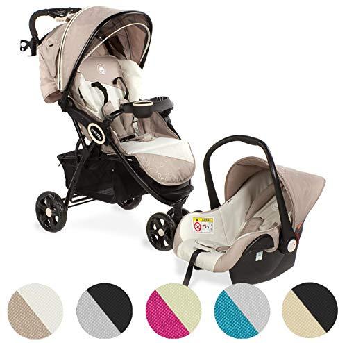 Froggy® 2 in1 Kombi-Kinderwagen DINGO Kinderbuggy mit Autositz Set Kinderwagen Buggy Jogger ultraleicht 5-Punkt-Sicherheitsgurt Liegefunktion Jasper