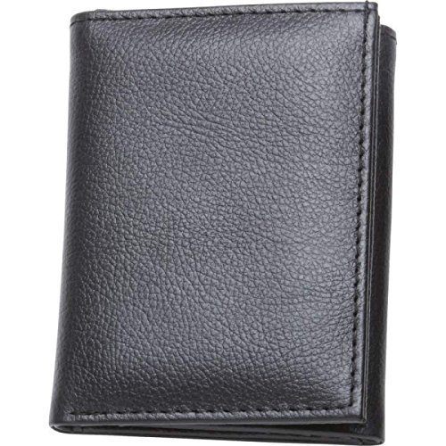 EmbassyTM Men's Solid Genuine Buffalo Leather Tri-Fold Wallet by Maxam
