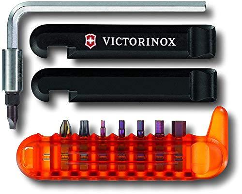 Victorinox Fahrradwerkzeug BikeTool (12 Funktionen, Reifenheber, 8 integrierte Bit-Schlüssel, Inbus, Torx, Hex) schwarz-orange
