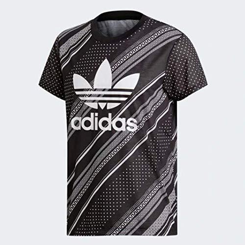 adidas Damen Boyfriend Trefoil Tee T-Shirt, schwarz, 40