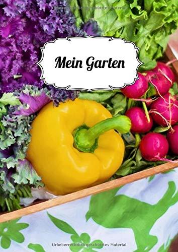 Mein Garten: Notizbuch |120 Seiten| liniert| A4