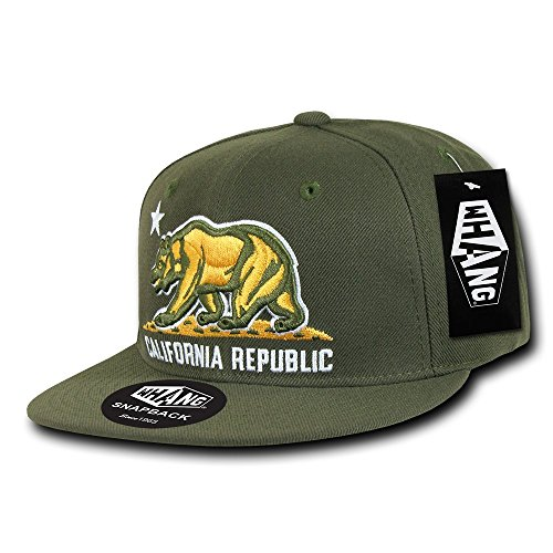 WHANG Snap Back Cali Kopf tragen, Herren, olivgrün, Nicht zutreffend