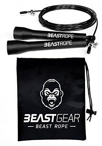 Springseil von Beast Gear - Speed Rope Für Fitness, Ausdauer & Abnehmen. Ideal für Boxen, MMA, Crossfit, HIIT, Intervalltraining & Double Unders