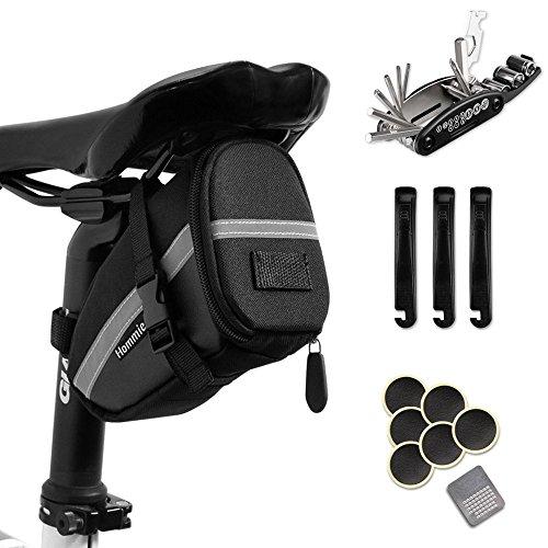 Hommie Fahrrad-Multitool, 16 in 1 Fahrrad Reparatur Set Fahrrad Multifunktionswerkzeug Pocket Tool Multifunktions Werkzeug, geschenkt Fahhradtasche