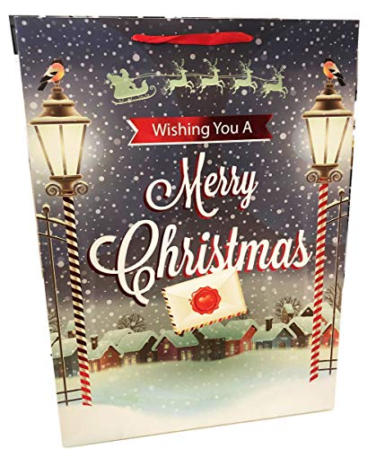 Extra Large Gift Bags - Traditional Village Scene