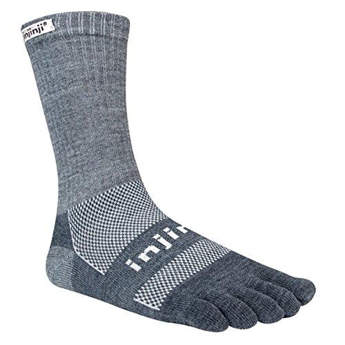 Injinji 2.0Outdoor nuwool Midweight Crew Socken Small Charcoal/schwarz