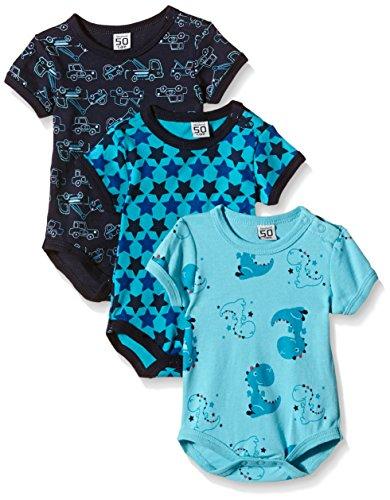 Care Baby - Jungen Kurzarm-Body im 3er und 6er Pack, Blau (Dark Navy 778), 3 Monate (Herstellergröße: 62 )