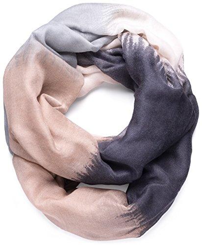 NavyBlu® Loop Schal Schlauchschal mit Farbverlauf Design in weicher und wertiger Qualität schwarz A06