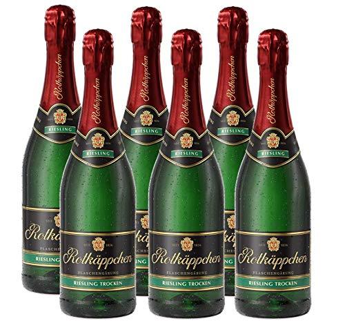 Rotkäppchen Sekt Flaschengärung Riesling trocken 6er Set (6 x 0,75l) - Premiumsekt deutscher Weine - perfekt zum Anstoßen/ besondere Momente/Geburtstage/ als Geschenk/ Mitbringsel