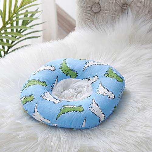 CXQ Süße kleine Monster Katze weichen Stoff Lätzchen komfortable elastische Kopfbedeckung Heimtierbedarf (Color : Blue, Size : S)
