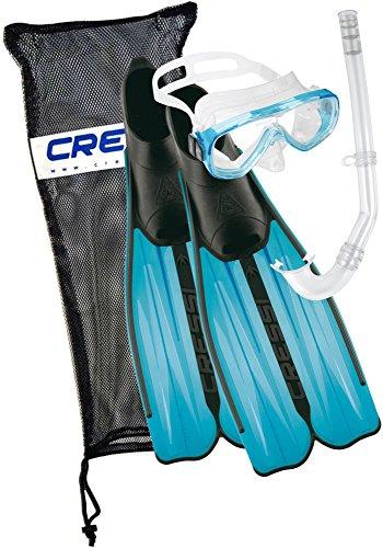 Cressi Unisex Tauchset Rondinella Bag, aquamarine, 43/44, CA189243