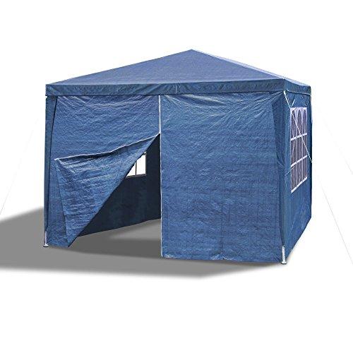 JOM 127135 Gartenpavillon 3 x 3 m, Durchmesser 24/18 mm, blau