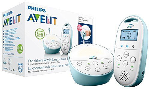 Philips Avent SCD560/00 Audio-Babyphone mit DECT-Technologie Smart Eco Mode, Gegensprechfunktion, blau