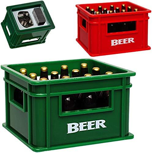 alles-meine.de GmbH 5 Stück _ Flaschenöffner & Magnete - Bierkasten Farb-Mix - sehr stabil - Magnete z.B. für Kühlschrank - Kühlschrankmagnet / Magneten - Deko Dekofigur Bierflas..