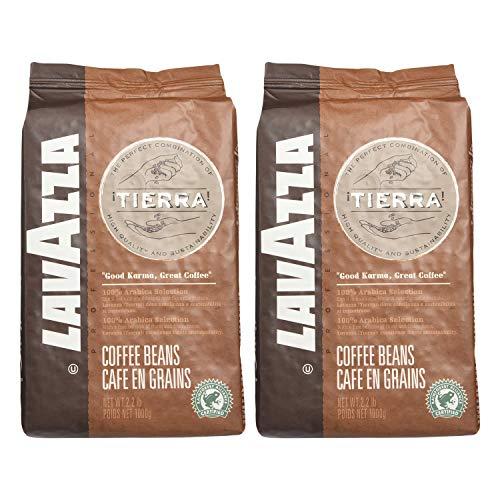 Lavazza Kaffee Espresso Tierra, ganze Bohnen, Bohnenkaffee (2 x 1kg Packung)