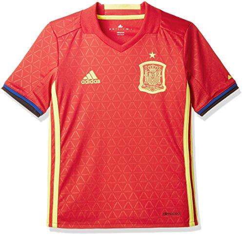 adidas Jungen Fußball/Heim-trikot UEFA Euro 2016 Spanien Replica Scarlet/Bright Yellow, 128