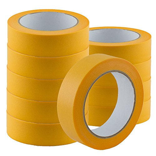 6 Rollen Goldband PLUS 19mm Fineline UV Malerklebeband Malerkrepp Klebeband Tape