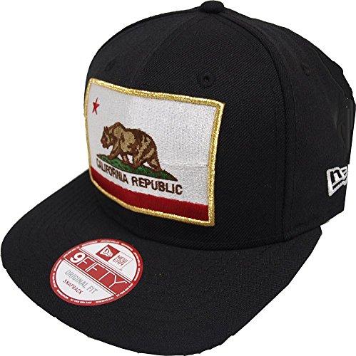 New Era California Edition Cali Flag Black Snapback Cap Kappe 9fifty Basecap Men