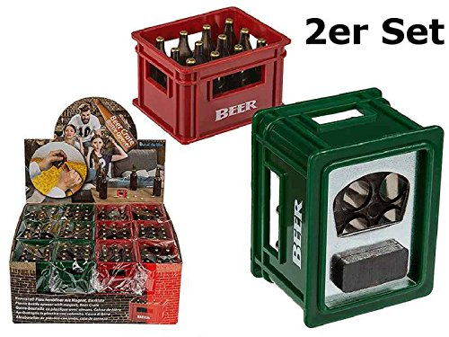 Flaschenöffner mit Magnet Bier Kisten 2er Set - Flaschenöffner, Gartenparty, Feier, Fest
