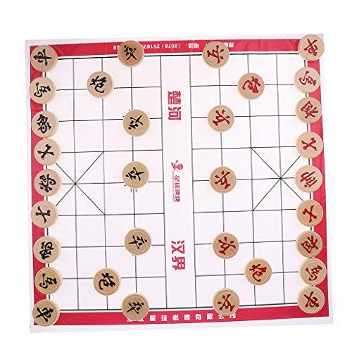 sharprepublic Chinesisches Schach Schachfiguren Set Xiangqi Brettspiel - Schach Durchmesser 3,0 cm