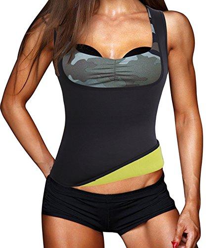 Damen Hot Schweiß Weste Neopren Sport Body Shaper Korsett Sauna-Anzug Waist Taille Cincher (M(Fit 28.3-32.2 Inch Waist), Black(3-5 Days Delivery))