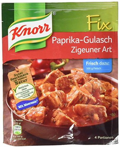 Knorr Fix Paprika Gulasch Zigeuner 4 Portionen (10 x 52 g)