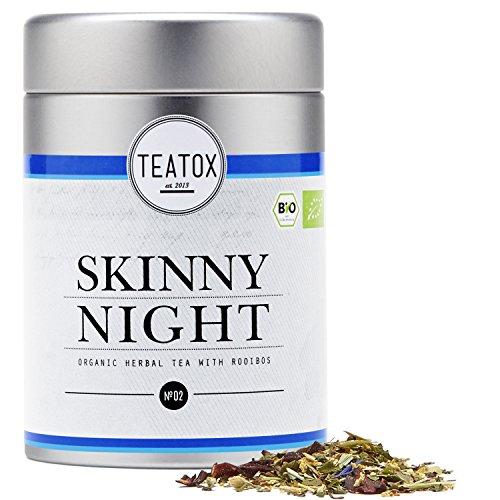 TEATOX Skinny Night Tee, Bio Kräutertee mit Rooibos (loser Tee im Grobschnitt in Tee-Dose)