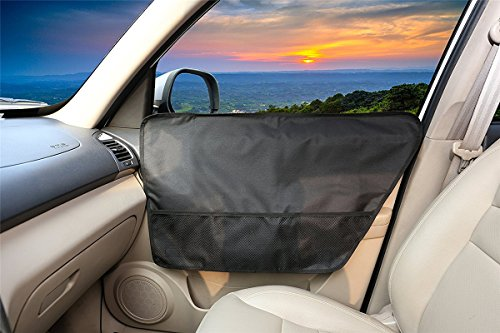 Wanty Autotürabdeckung für Haustiere, wasserdicht, maschinenwaschbar, Flexible Kunststofflaschen oder Befestigung für alle Fahrzeuge, 2 Stück