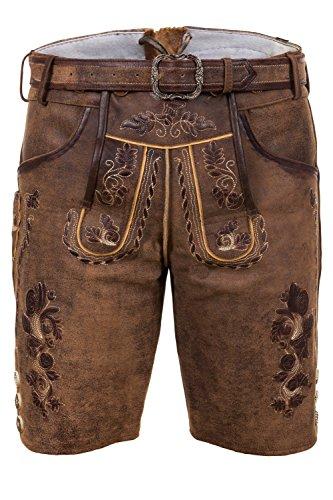 Bayerische Traditionelle Kurze Lederhose Thomas mit passendem Trachtengürtel Gr. 44-68 … (66)