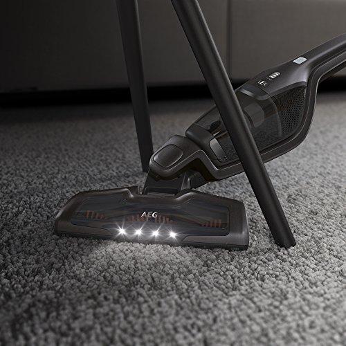 AEG Ergorapido CX7-2-35FFP 2in1 Akku-Staubsauger (beutellos, bis zu 35 Min. Laufzeit, freistehend, 180° Drehgelenk, Bürstenreinigungsfunktion, LED-Frontlichter, grau)