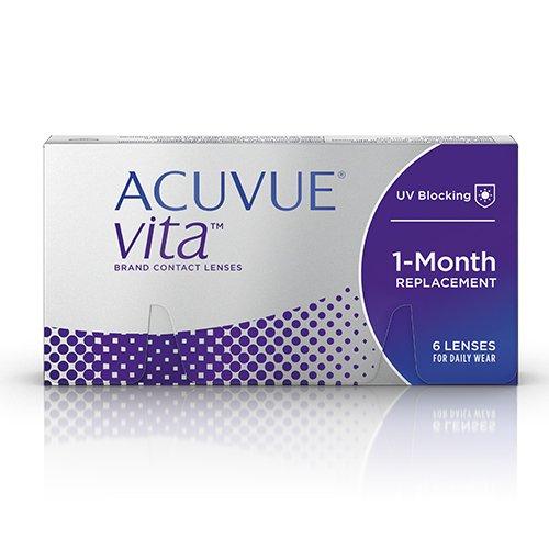 ACUVUE Vita Monatskontaktlinsen, 6 Stück / BC 8.4 mm / DIA 14 / -6.5 Dioptrien