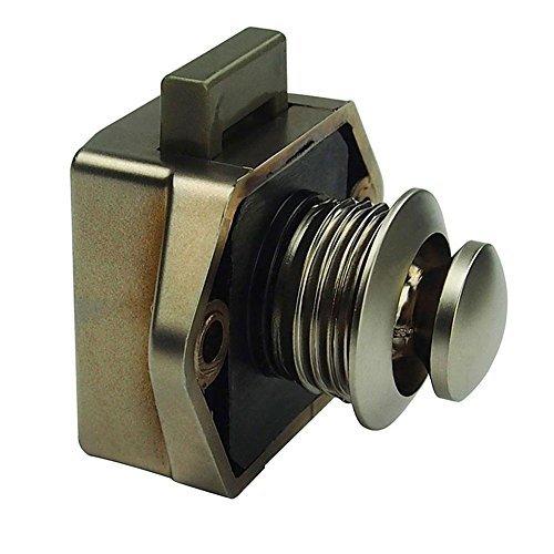 Starnearby Push Button Lock Verriegelung für Knauf Caravan Wohnmobil-Camper Motor Home Schrank, Durchmesser 20 mm (A)