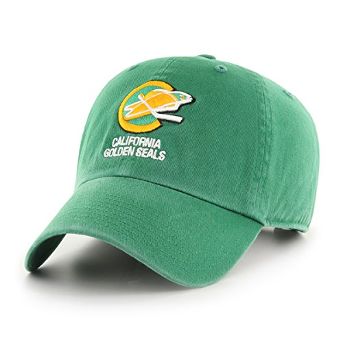 NHL California Seals Male OTS Challenger Adjustable Hat, Kelly, One Size