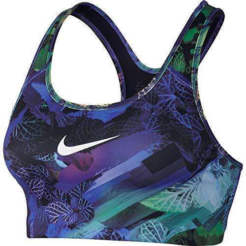 Nike Damen Classic Swoosh Hydra Sport-BH, Paramount Blue/Black/White, L