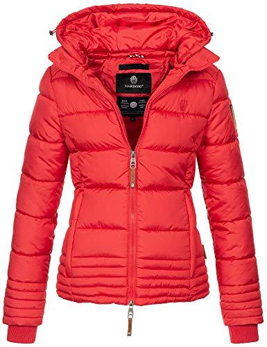 Marikoo Designer Damen Winter Jacke Steppjacke Winterjacke Stepp gesteppt B668 [B668-Sol-Rot-Gr.XXL]