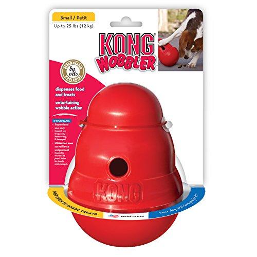 KONG Wobbler Hundespielzeug, befüllbar mit Snacks, S