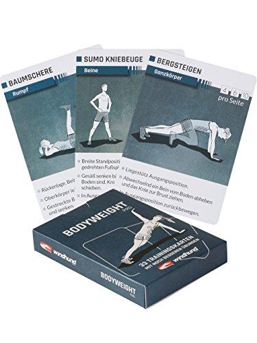 WINDHUND Trainingskarten Bodyweight pro - Übungen ohne Geräte