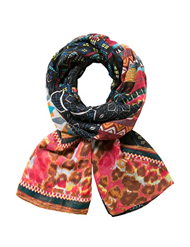 Desigual Damen FOULARD_RECTANGLE MISHA Schal, Orange (TEJA 7008), One Size (Herstellergröße: U)