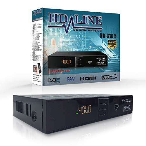 HD LINE 310 S Digitaler Satelliten Receiver (HDTV, DVB-S/S2, HDMI, SCART, 2x USB 2.0, FULL HD 1080P) [Vorprogrammiert für Astra, Hotbird, Türksat]