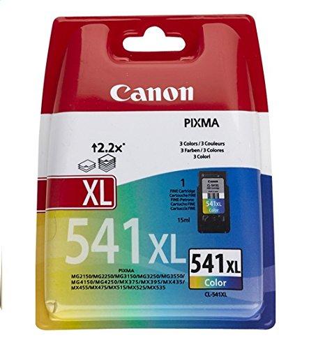 Canon CL-541XL original Tintenpatrone  Mehrfarbig XL für Pixma Inkjet Drucker TS5150-TS5051-MX375-MX395-MX435-MX455-MX475-MX515-MX525-MX535-MG2150-MG2250-MG3150-MG3250-MG3550-MG3650-MG4150-MG4250
