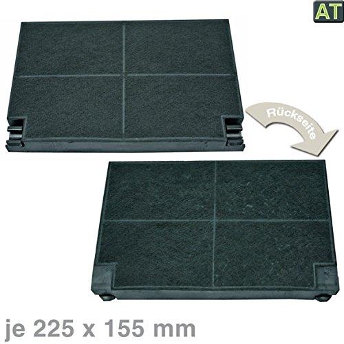 VIOKS Kohlefilterter Dunstabzughaube Aktivkohlefilter Filter Dunstabzug wie AEG Zanussi 5023298000 8 EFF55 225x155mm