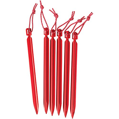 MSR Mini Groundhog Stake Kit 6Units, Farbe Red
