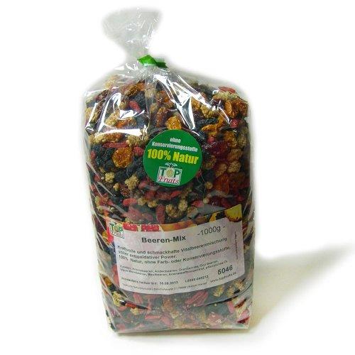 Topfruits Beeren-Mix - das frisch vitale Superfood - 100% Natur - 1Kg