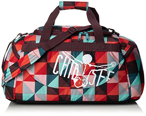 Chiemsee Unisex-Erwachsene Sporttasche Matchbag Medium Reisetasche, Magic Triangle Red, 56 x 27 x 29 cm, 43 Liter