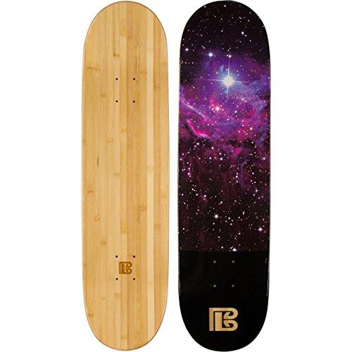 Bambus Skateboards Nebel Graphic Skateboard Deck mit A 6-lagig Bambus und Ahorn Hybrid Bj, natur