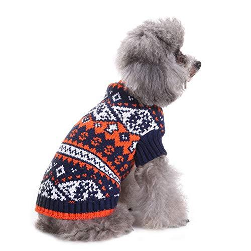 CHIYEEE Weihnachtspullover für Hunde und Katzen Weihnachten Hundepullover Warm Hundepulli Winter Strickpullover Sweater XXL