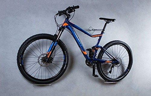 trelixx Fahrrad Wandhalter Mountainbike aus Plexiglas® Acrylglas, platzsparende Fahrradaufbewahrung, Radhalter Wandmontage, 1000fach verkauft