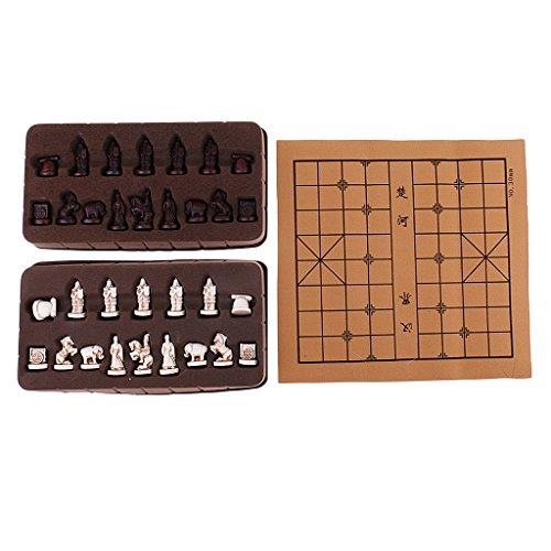 Unbekannt Exquisite Retro Chinesischen Schach Harz Terrakotta Armee Stücke Xiangqi